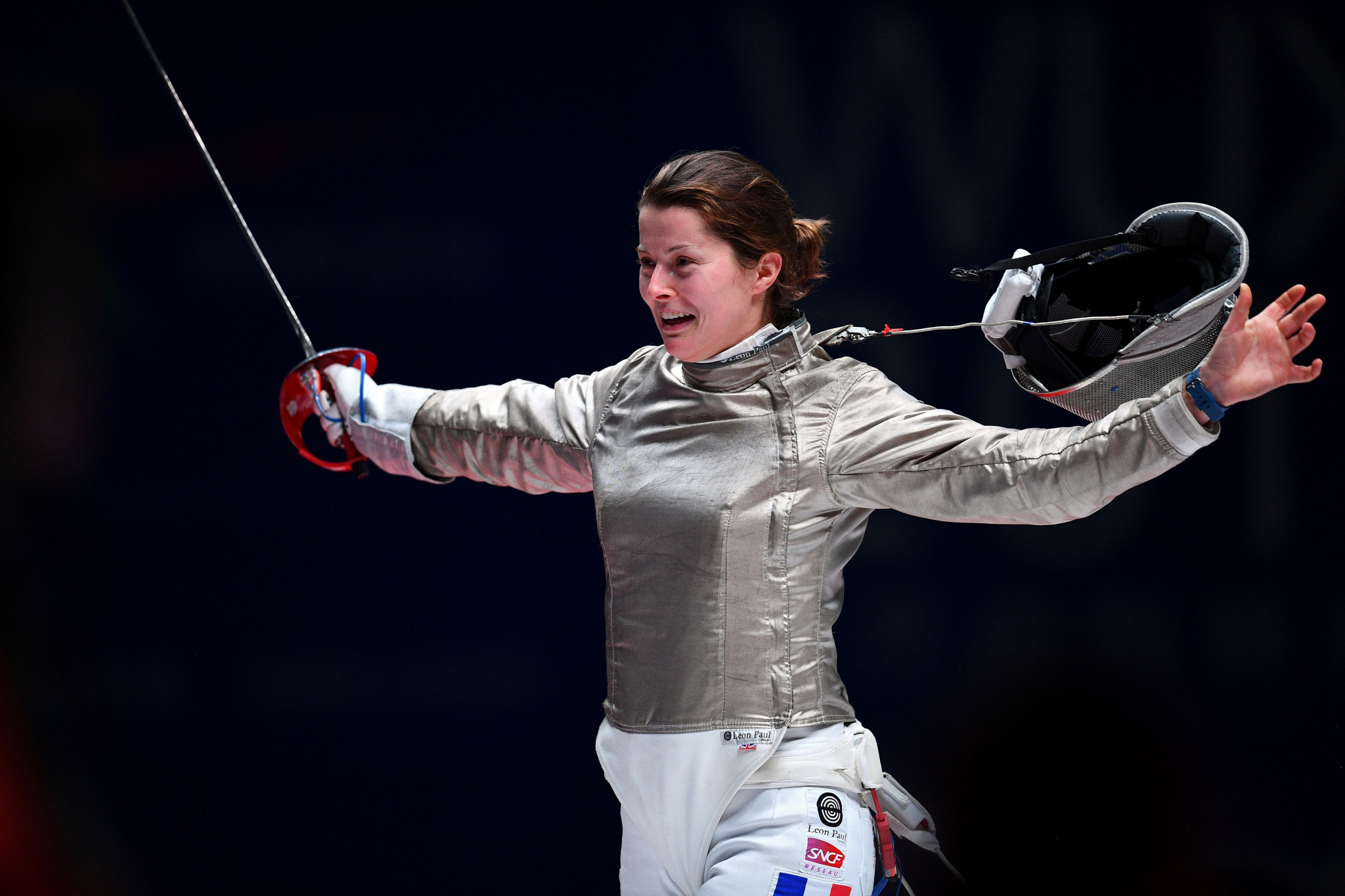 France's Cécilia Berder will be vying for top honours at the FIE Women's Sabre World Cup in Sint-Niklaas in Belgium ©Getty Images