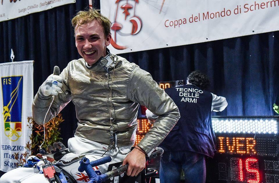 Great Britain's Gilliver wins men's sabre gold medal at IWAS Wheelchair Fencing World Cup in Pisa