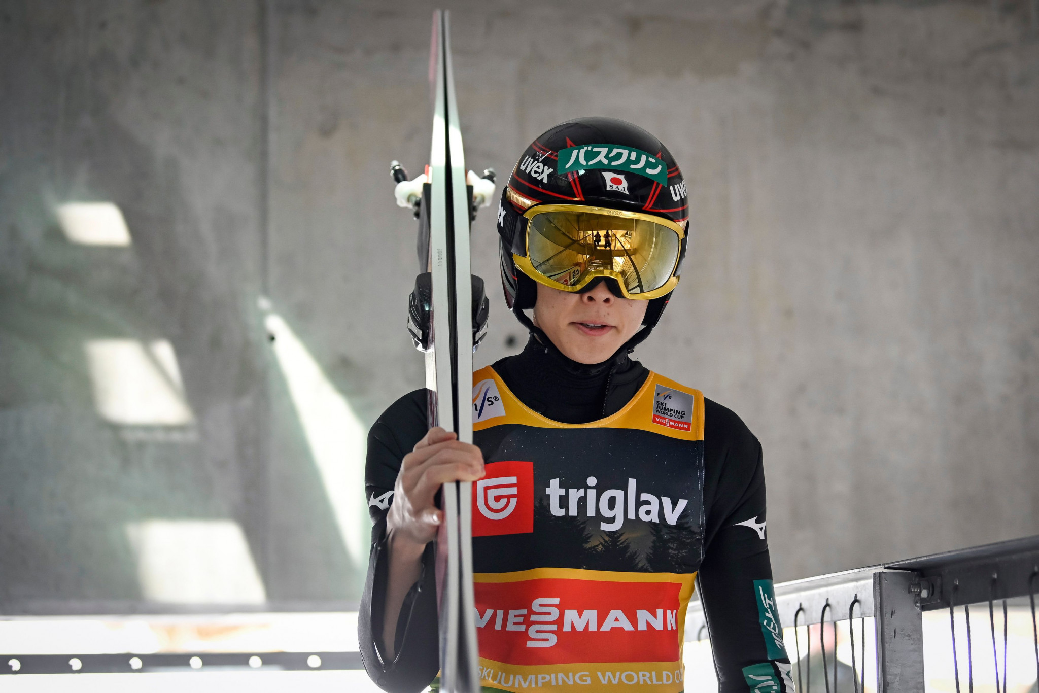 Ryoyu Kobayashi topped qualification on the ski flying hill ©Getty Images