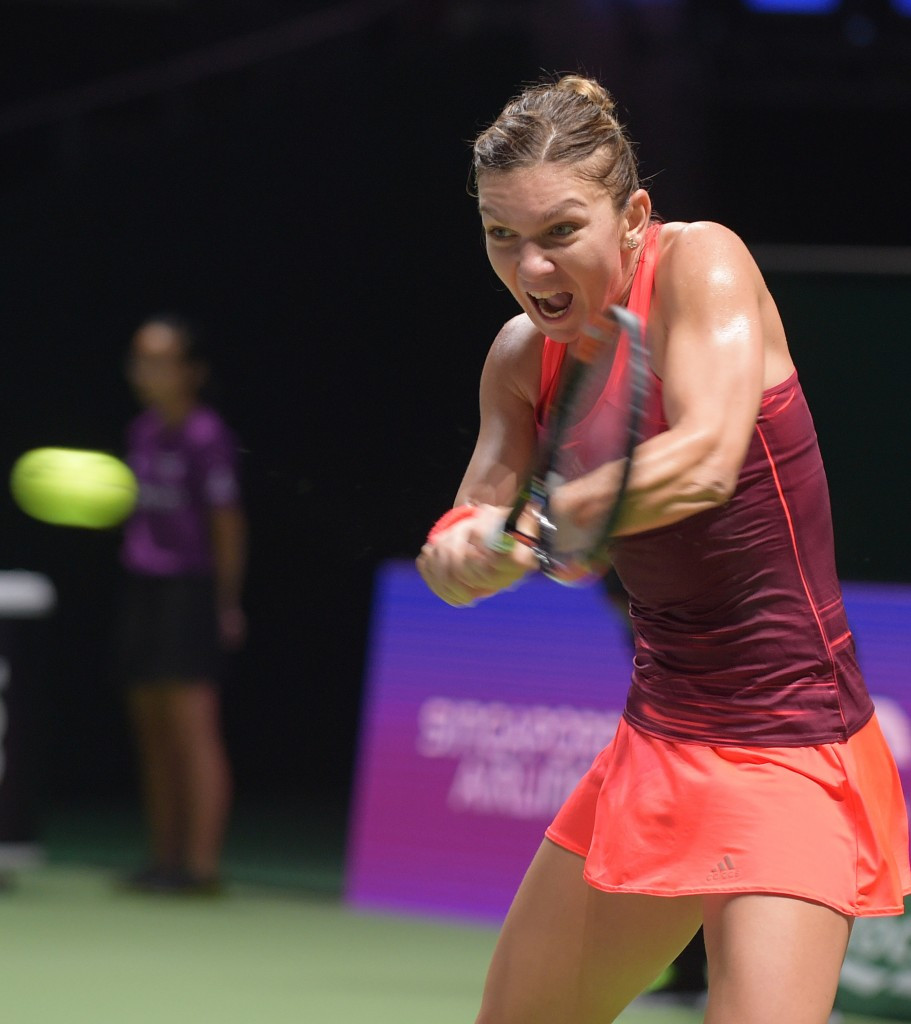Halep gains revenge with big opening victory at WTA Finals as Sharapova comes from behind to win
