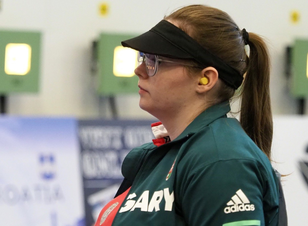 Hungarian Veronika Major triumphed among the women's air pistol shooters ©ESC