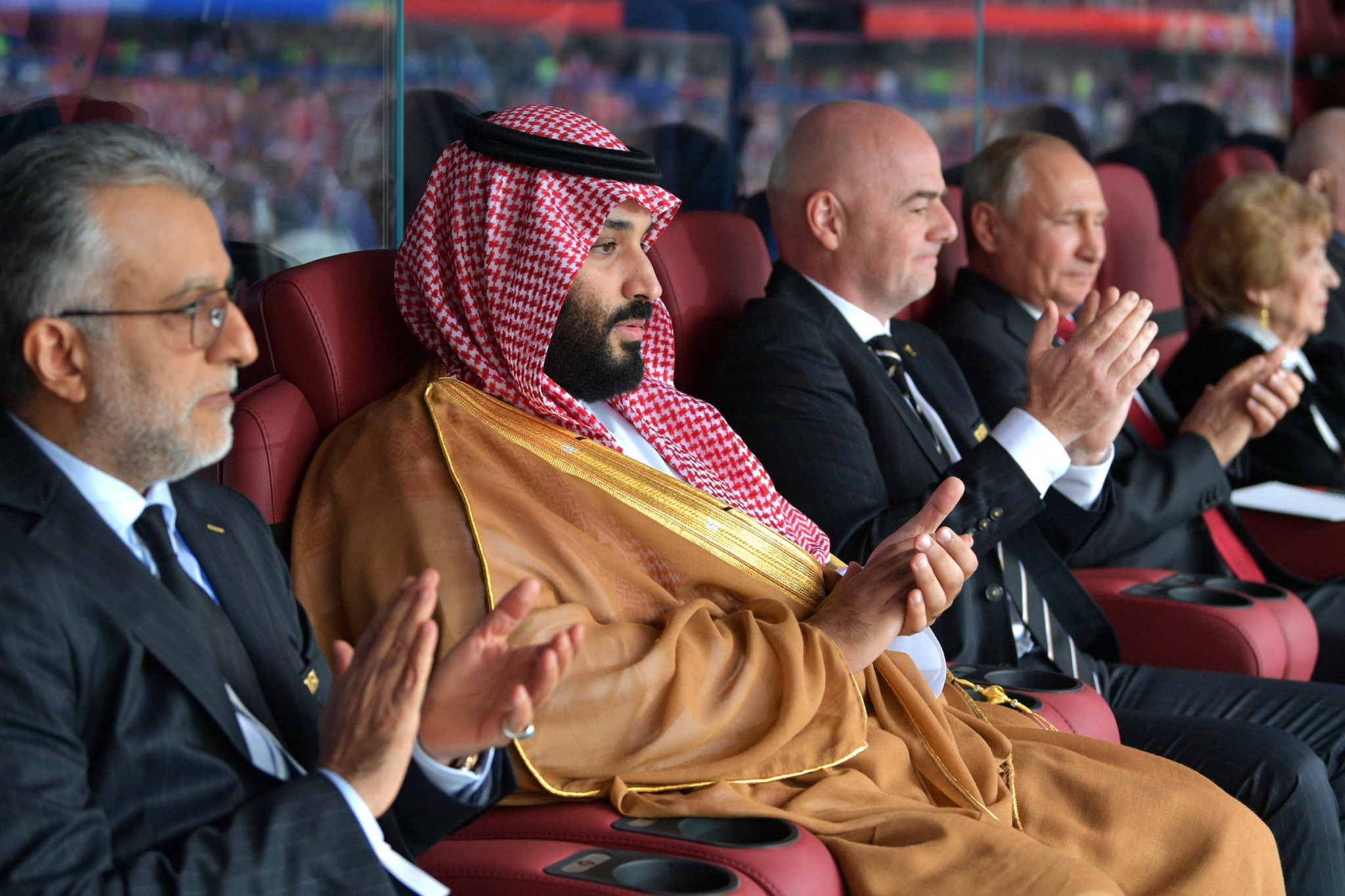Sheikh Salman bin Ebrahim Al Khalifa, left, claims that 40 of the 47 countries who are members of the Asian Football Confederation have already pledged their support to him to be re-elected as President ©Getty Images