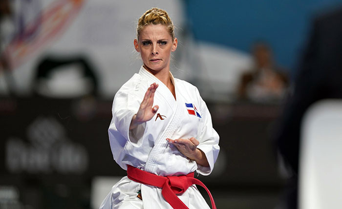 The Dominican Republic's Maria Dimitrova will go for her first women's kata title at the Pan American Karate Championships since 2014 against familiar rival Sakura Kokumai from the United States ©WKF