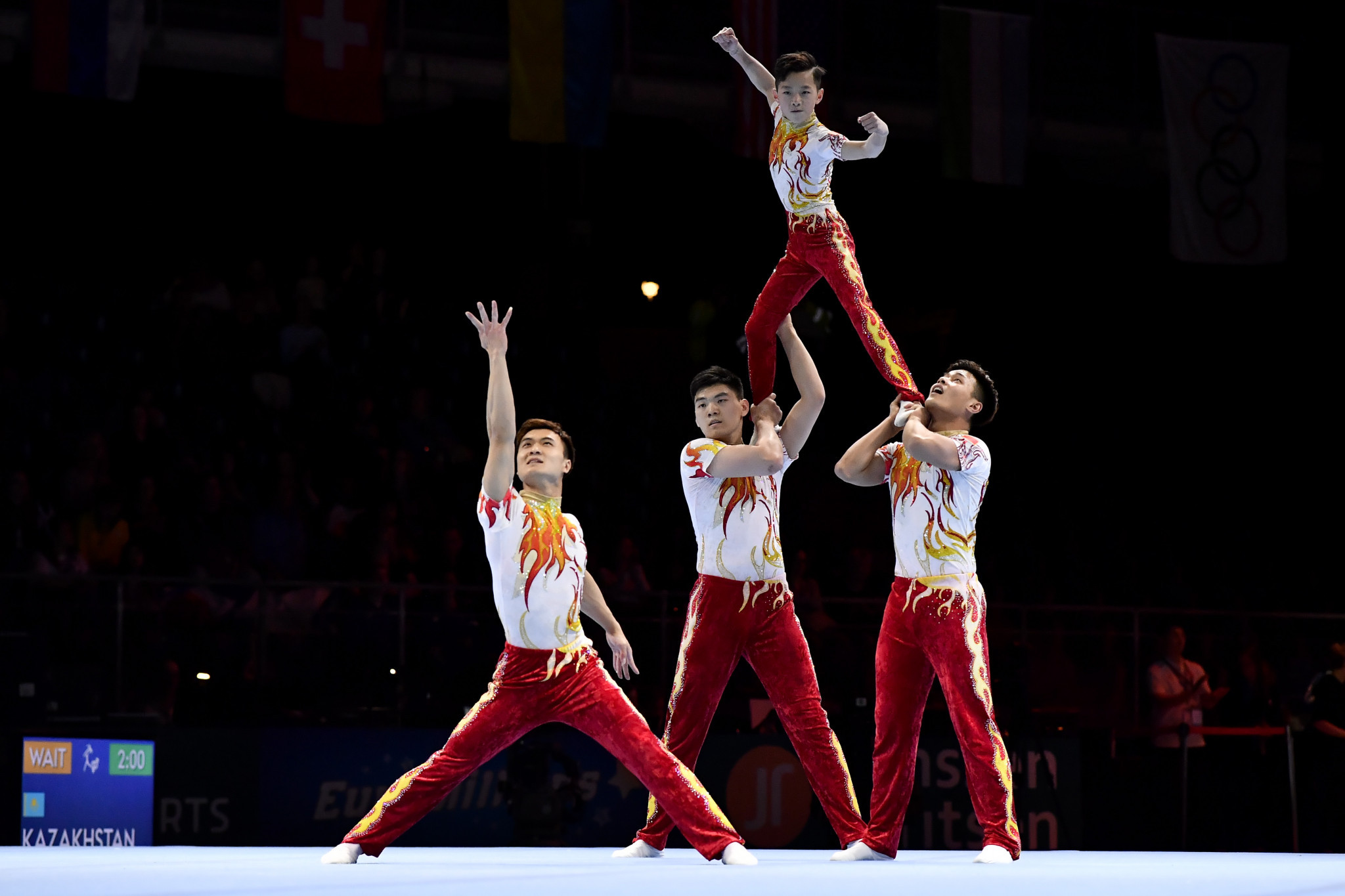 China's Fu Zhi, Guo Pei, Jiang Heng and Zhang Junshuo are expected to be strong contenders in the men's group ©Getty Images
