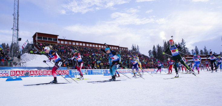 More than 133 million live hours of action from the IBU World Championships in Östersund were viewed on free-to-air television in Europe ©IBU