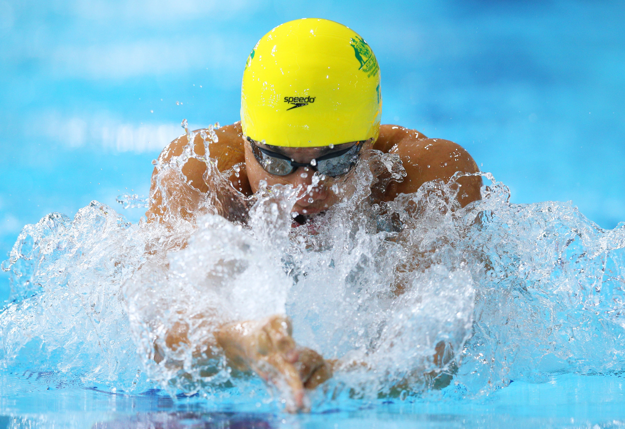 Kenneth To won two medals as part of Australian relay teams at the Glasgow 2014 Commonwealth Games ©Getty Images