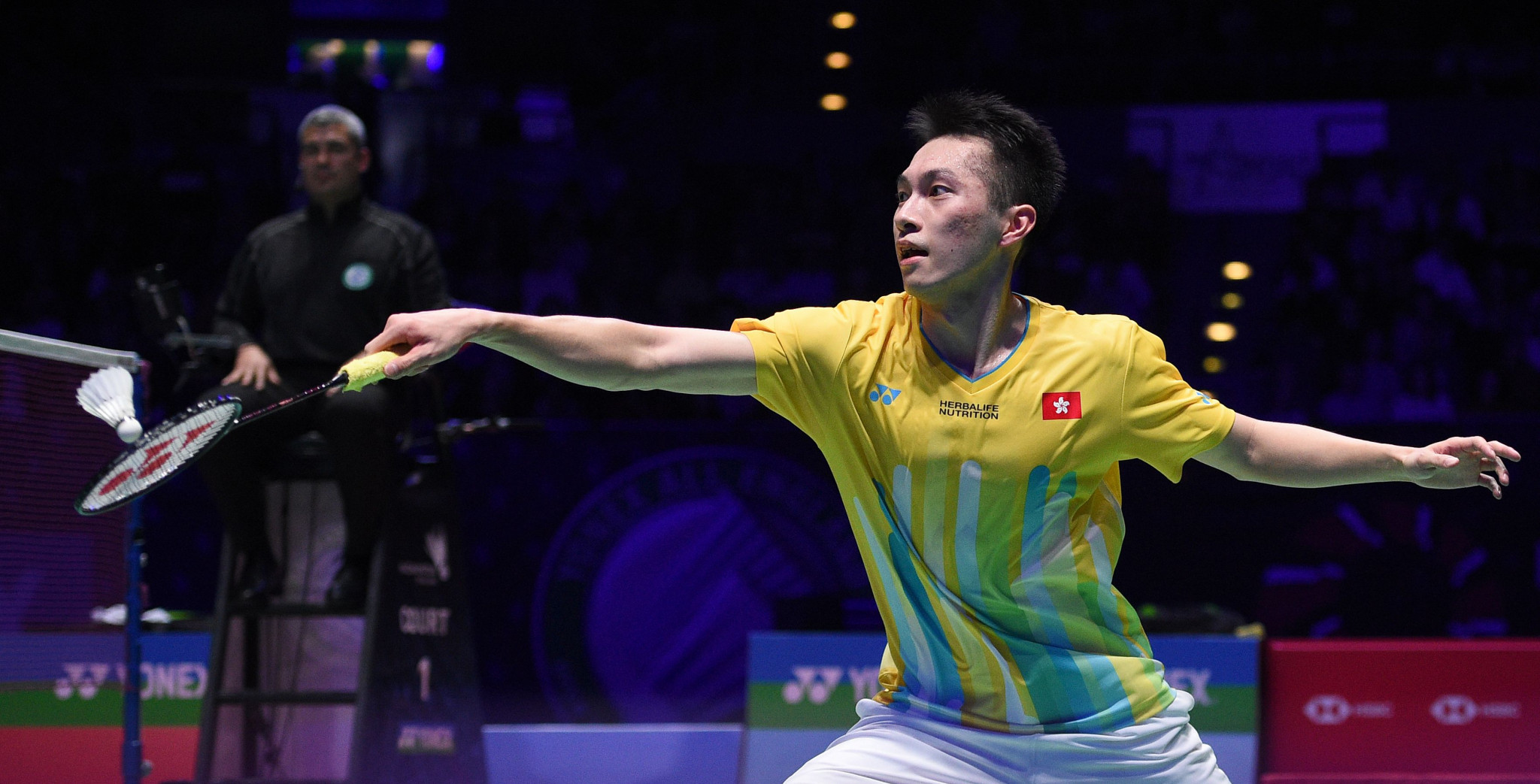 Ng Ka Long helped Hong Kong earn a 3-2 win over Chinese Taipei in the quarter-finals of the Badminton Asia Mixed Team Championships ©Getty Images