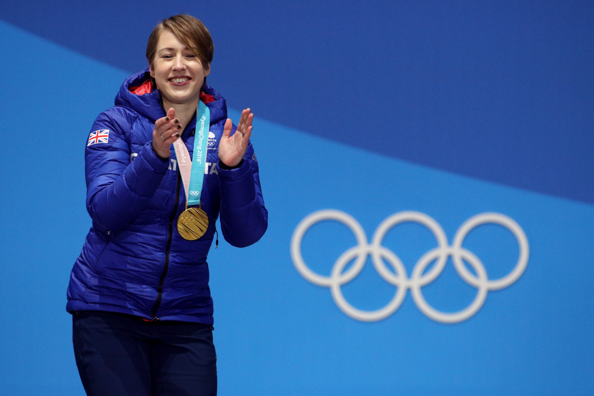 Lizzy Yarnold's two Olympic gold medals came during Christopher Rodrigues' tenure as chair ©Getty Images
