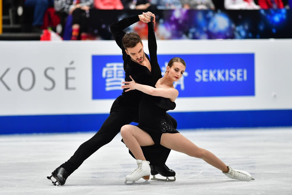World champions Gabriella Papadakis and Guillaume Cizeron of France are poised to claim the ice dance gold medal following the rhythm dance segment ©ISU