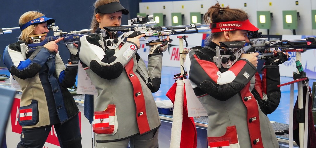 Team action dominated the programme today at the European 10m Shooting Championships ©Getty Images