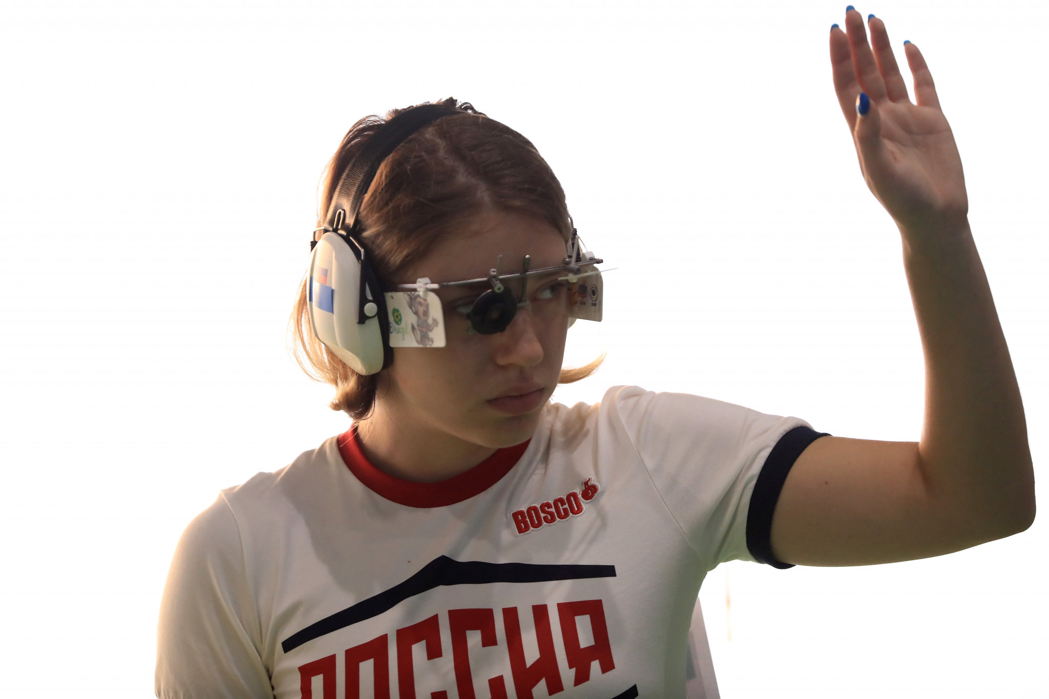Vitalina Batsarashkina helped Russia qualify in first place for the final of the mixed team 10m air pistol event ©Getty Images