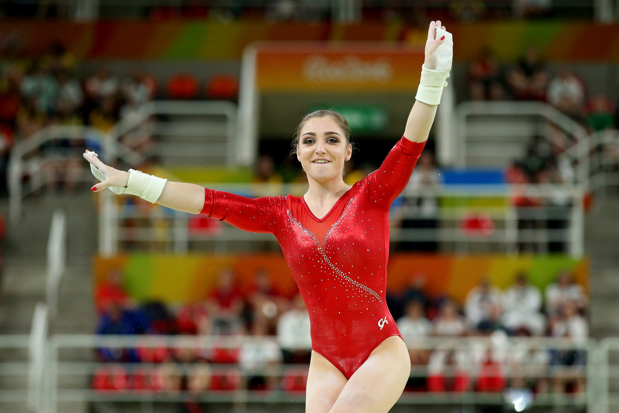 Double Olympic champion Aliya Mustafina of Russia is among a star-studded field set to compete in Birmingham ©Getty Images