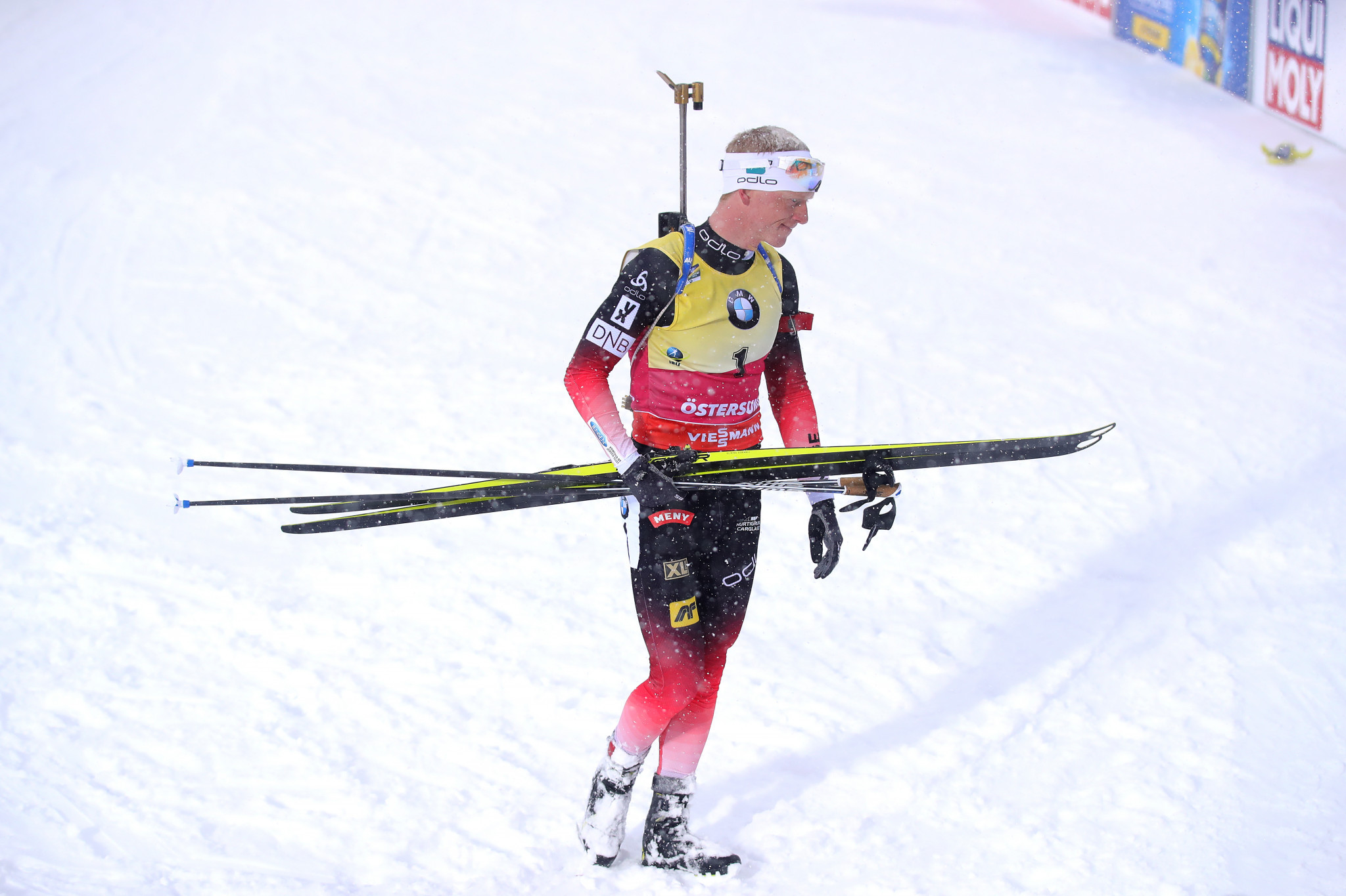 Norwegian star Johannes Thingnes Bø secured a record-equalling 14th victory of the season ©Getty Images