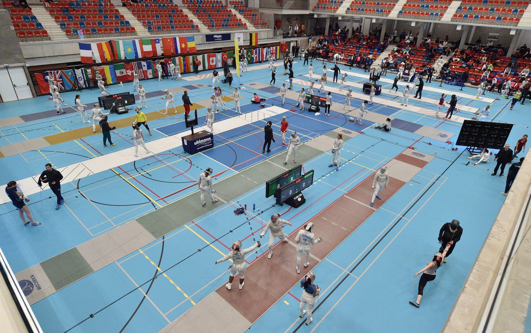 Competition also got under way at the FIE Women's Sabre World Cup in Sint-Niklaas in Belgium ©Simone Ferraro/BizziTeam/FIE/Facebook