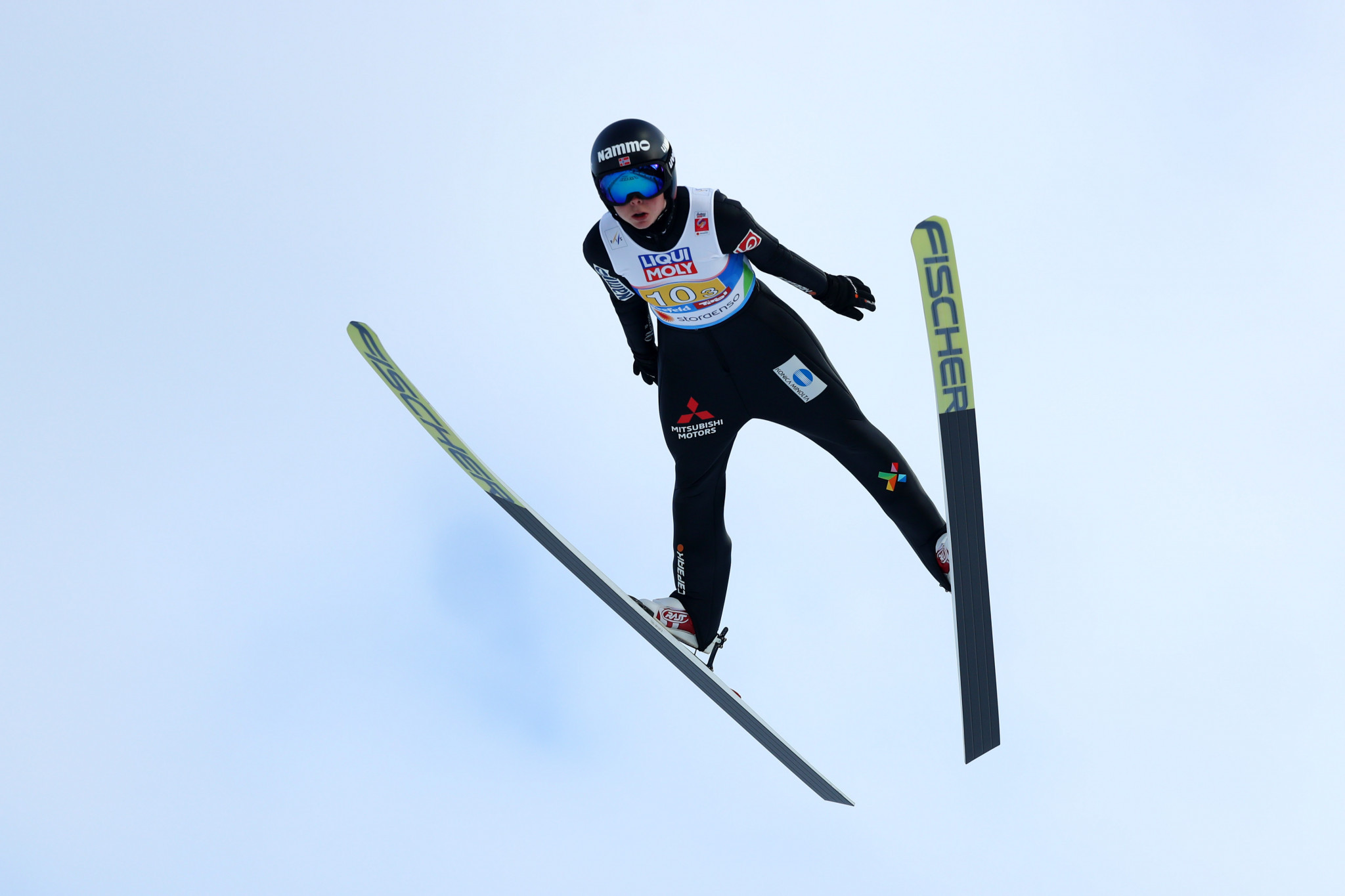 Norway's Maren Lundby led qualification at the women's FIS Ski Jumping World Cup in Chaikovsky in Russia ©Getty Images