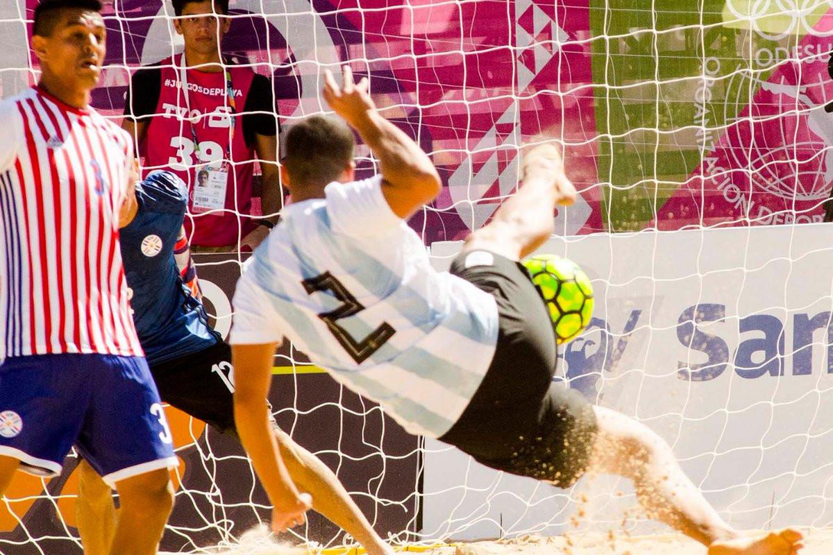Hosts Argentina progress to beach football final at South American Beach Games