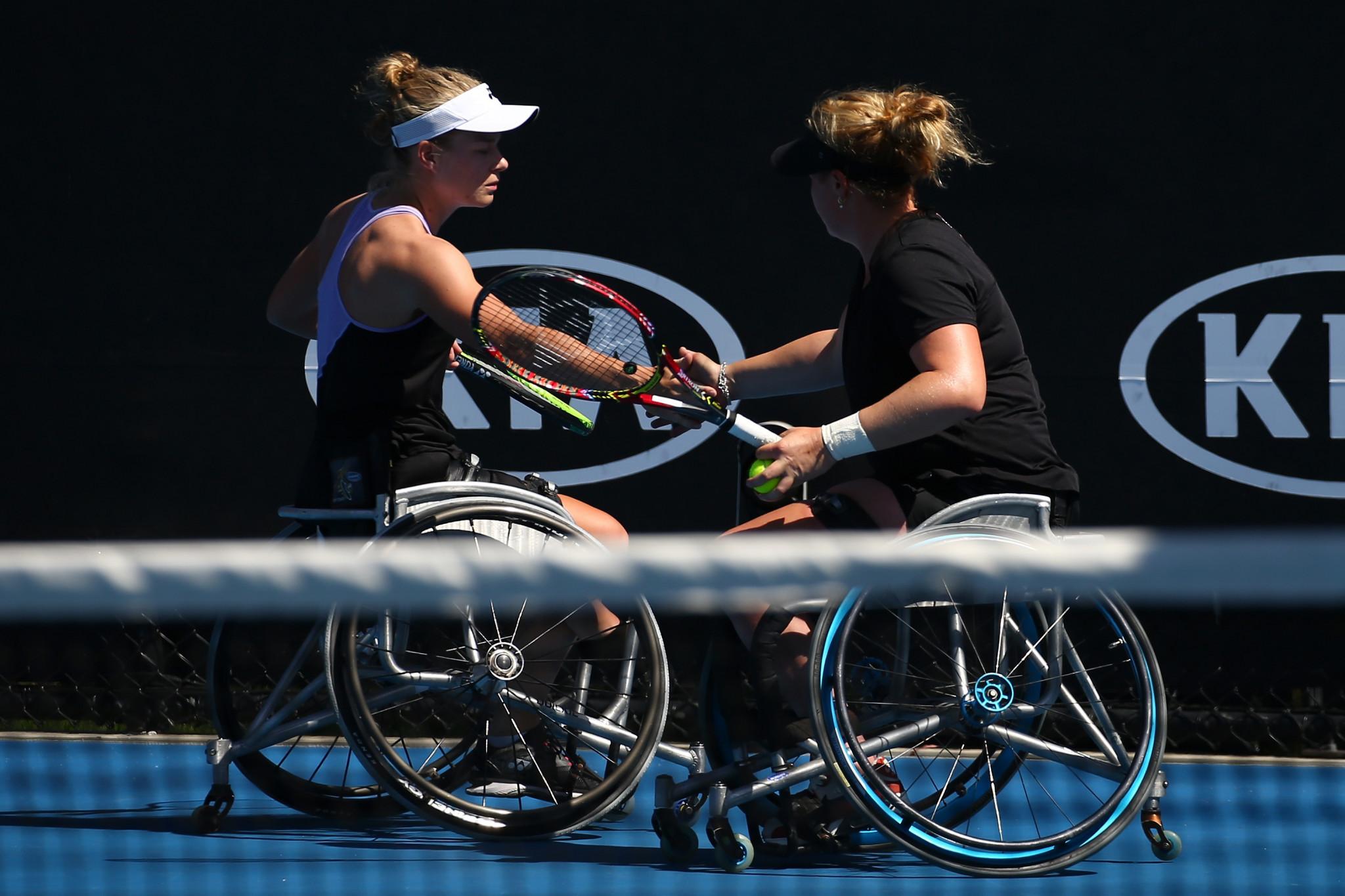 Diede De Groot and Aniek Van Koot progressed to the women's doubles final ©Getty Images