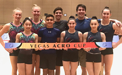 The event in Las Vegas is also known as the Acro Cup ©USA Gymnastics