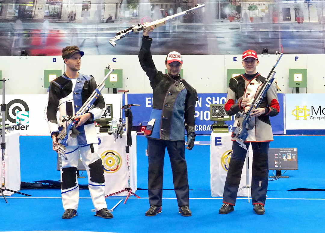 Maslennikov defends men's air rifle title at European 10 metre Shooting Championships