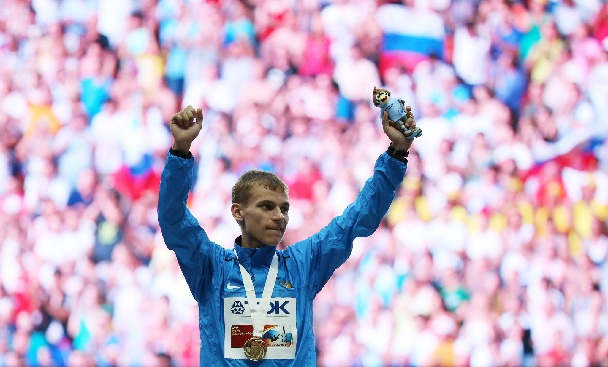 Alexandr Ivanov will lose the gold medal he won at the 2013 IAAF World Championships ©Getty Images