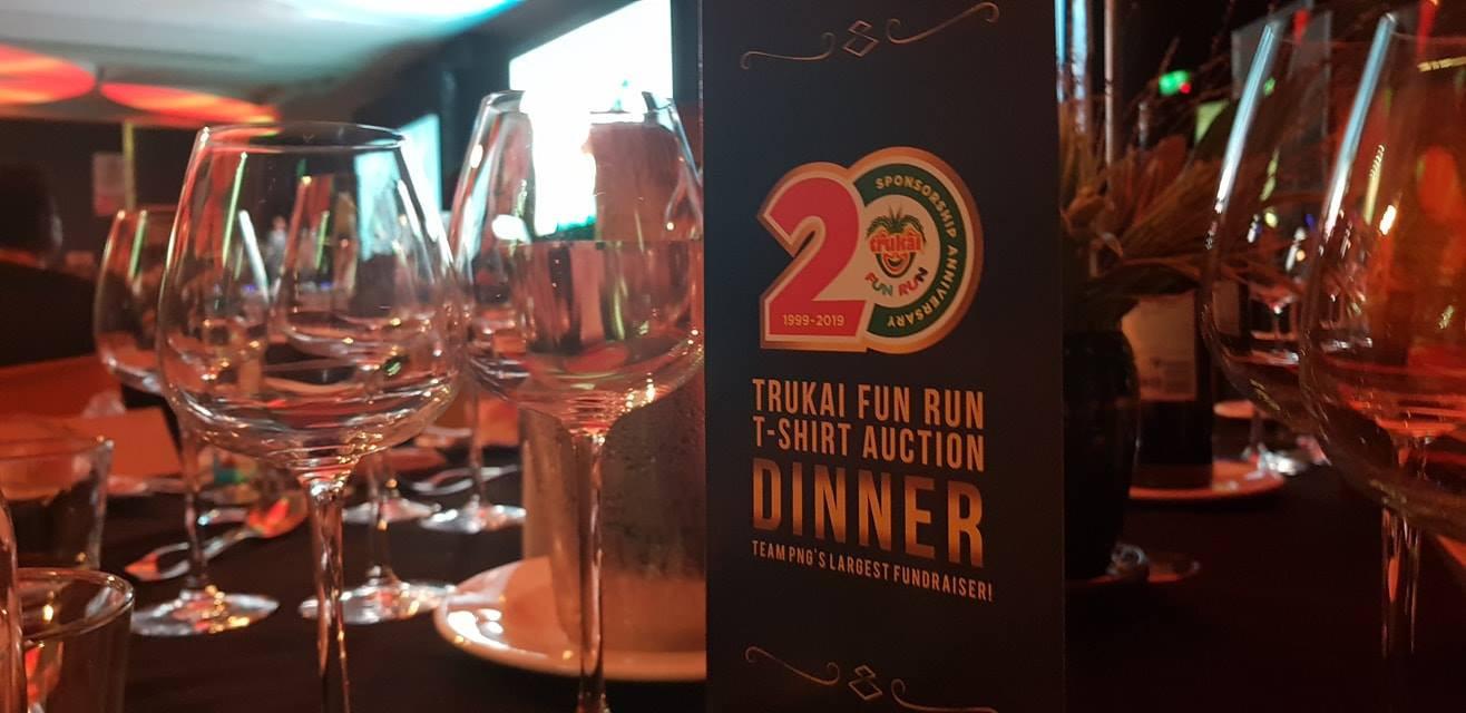 The Trukai Fun Run t-shirt auction took place in Lae and Port Moresby in Papua New Guinea ©Trukai Fun Run