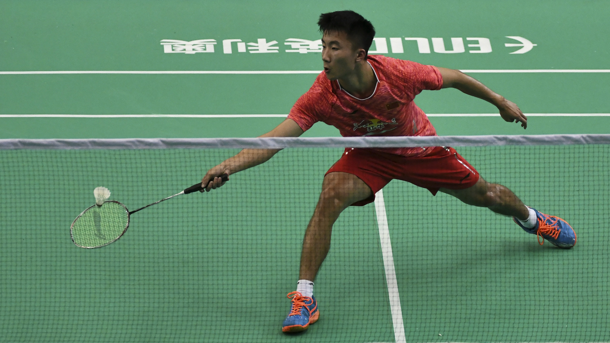Lu Guangzu won his men's singles match in China's victory over Hong Kong ©Getty Images