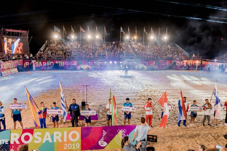 The Closing Ceremony was held for the 2019 South American Beach Games in Rosario ©Rosario 2019