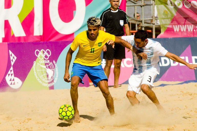 Brazil took gold in the beach football at the South American Beach Games ©Rosario 2019