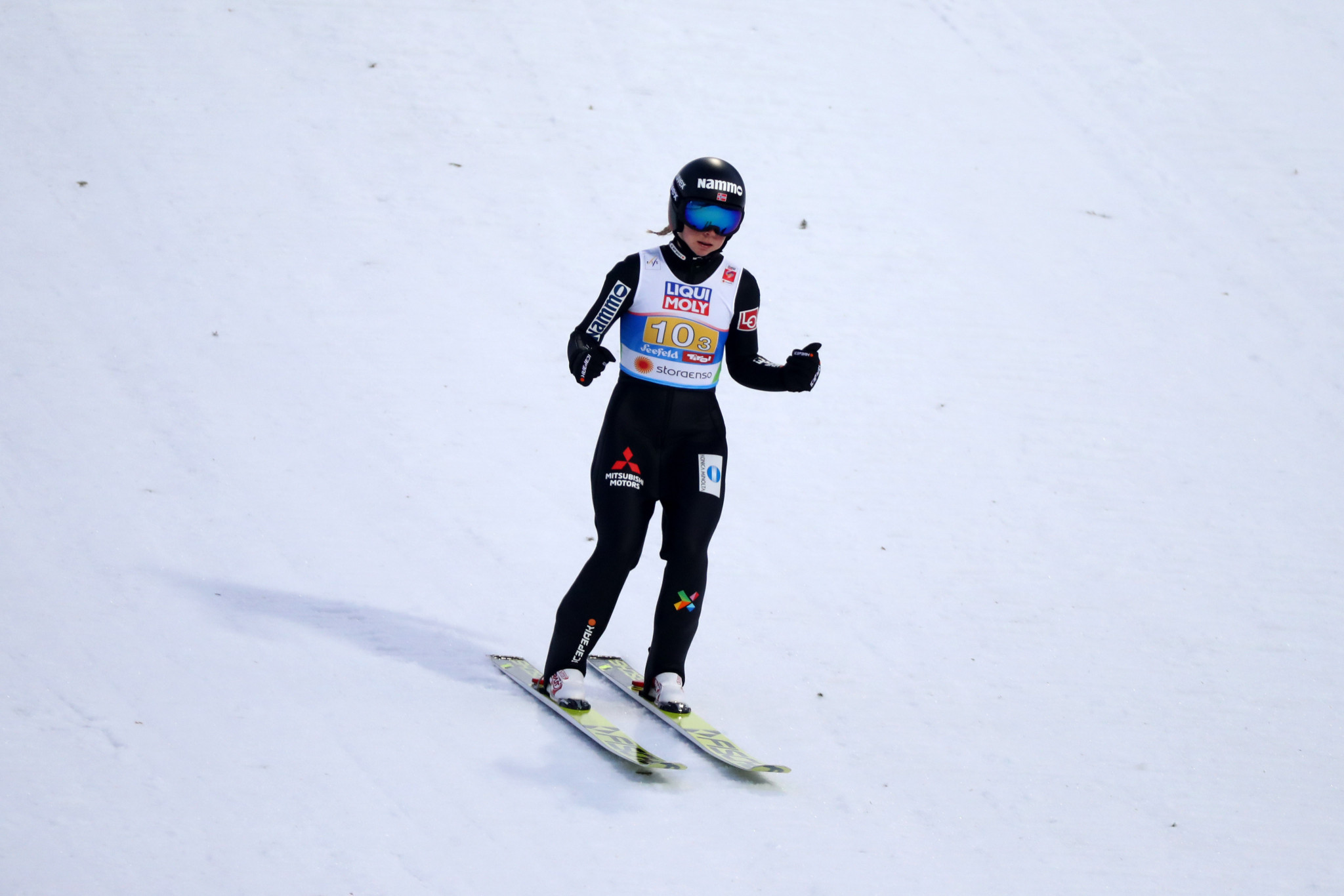 Maren Lundby won the final event of the women's World Cup season ©Getty Images