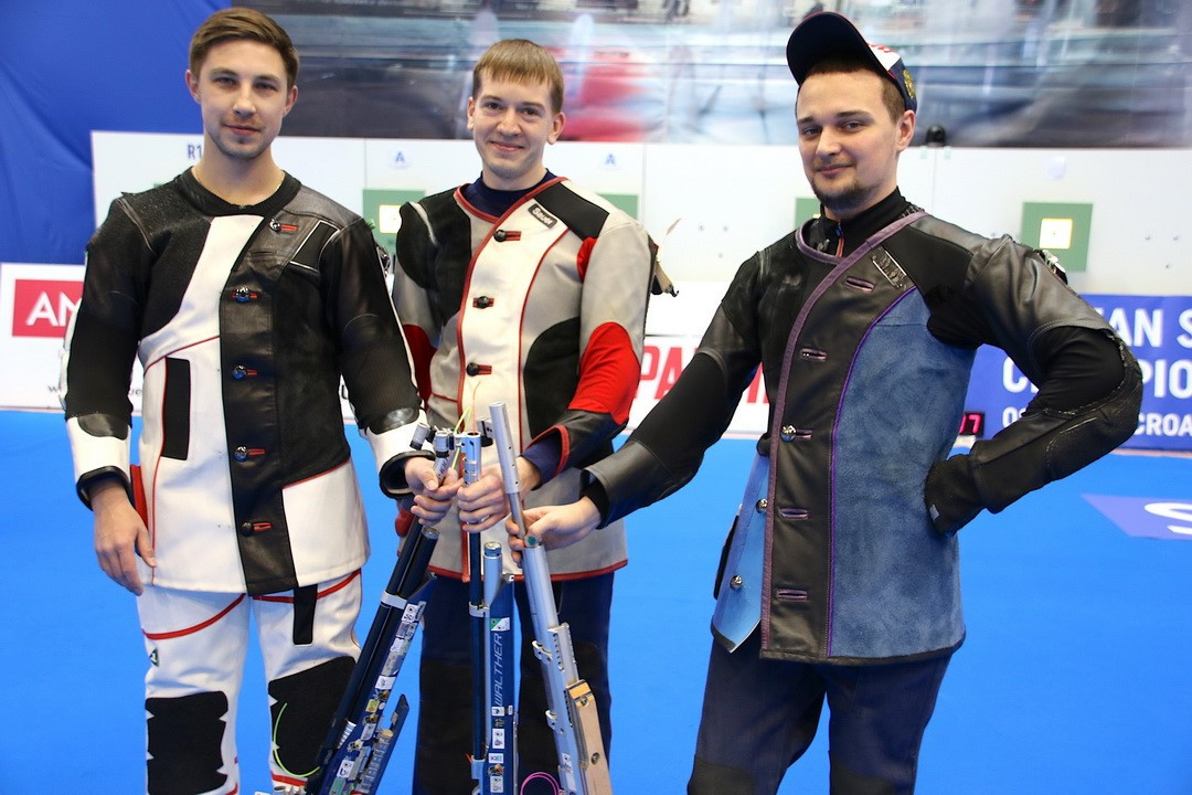 Russia's Maslennikov wins third gold in two days as European 10 Metre Shooting Championships ends