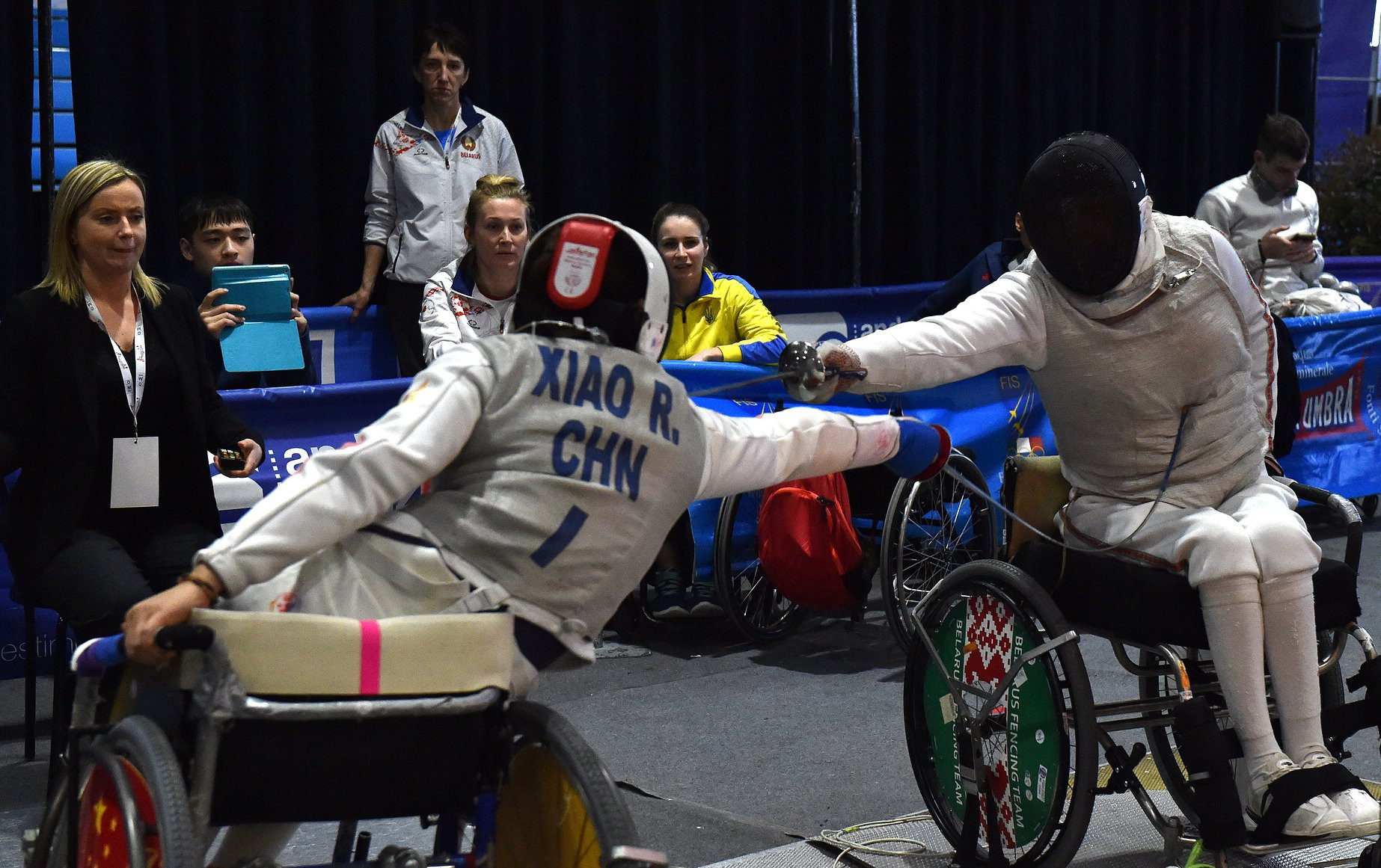China won the men's foil team event at the IWAS Wheelchair Fencing World Cup in Pisa ©Facebook