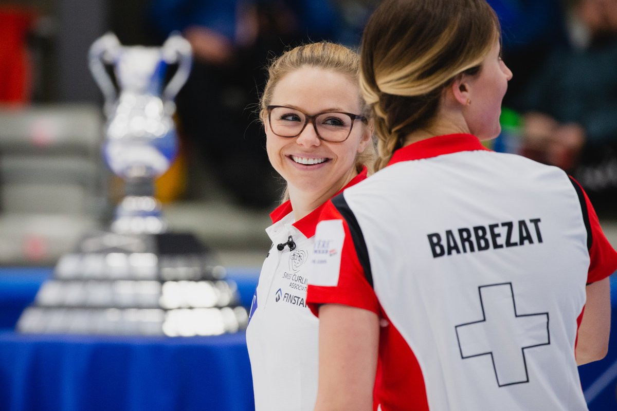 Switzerland beat Sweden to win the World Women's Curling Championships in Denmark ©World Curling