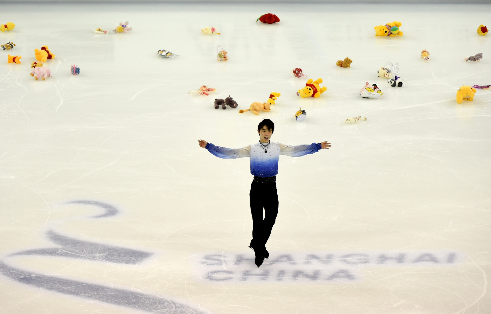 Olympic figure skating champion Yuzuru Hanyu has a dedicated fanbase ©Getty Images