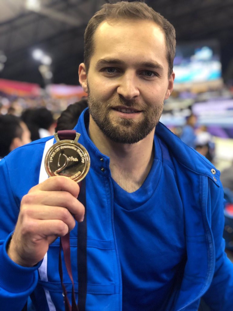 Israel's Alexander Shatlov won an historic gold at the FIG Artistic Gymnastics World Cup in Doha ©Israel Ministry of Foreign Affairs/Twitter