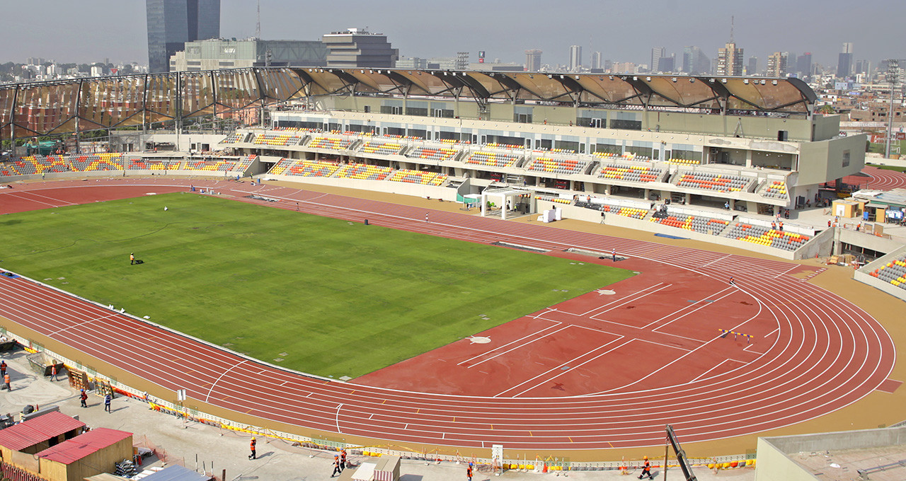 The International Association of Athletics Federations has certified the track to be used for the Lima 2019 Pan American Games as being a class one facility ©Lima 2019
