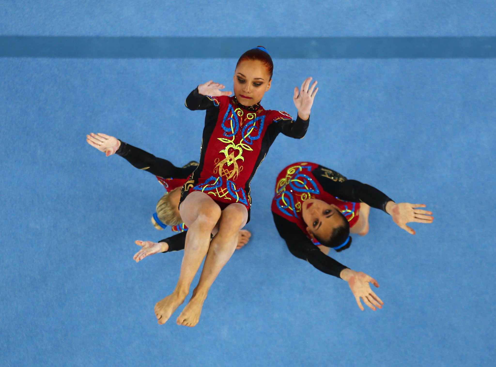 Belarus won gold and silver medals in the women's group final at the FIG  Acrobatic World Cup in Las Vegas. ©Getty Images