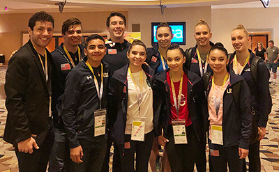 The most successful US team finished fourth in the women's pair final ©USA Gymnastics