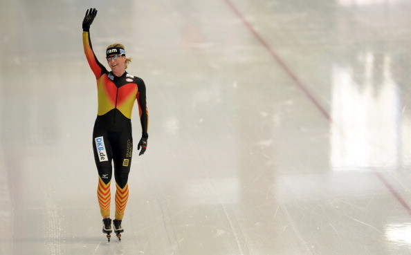 Germany's five-times Olympic speed skating champion Claudia Pechstein, pictured competing at last year's Pyeongchang 2018 Winter Games, has had her request for a final judicial review over her 2009 two-year doping ban rejected by the European Court of Human Rights ©Getty Images