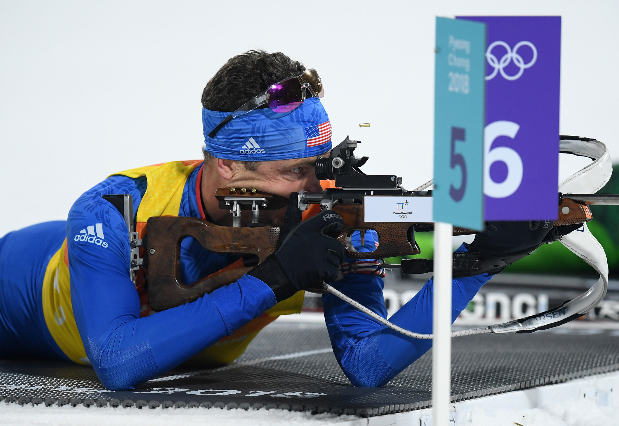 Tim Burke put US Biathlon in the international spotlight when he became the first and only American biathlete to ever lead the overall World Cup ranking in 2010 ©Getty Images