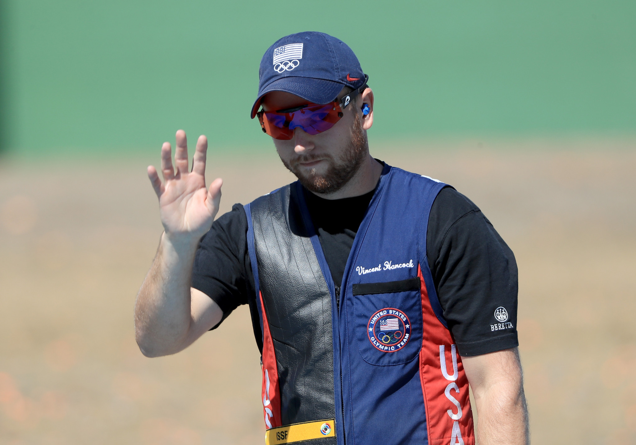 American Vincent Hancock hit every target in the men's skeet final at the ISSF Shotgun World Cup in Acapulco to equal the world record ©Getty Images