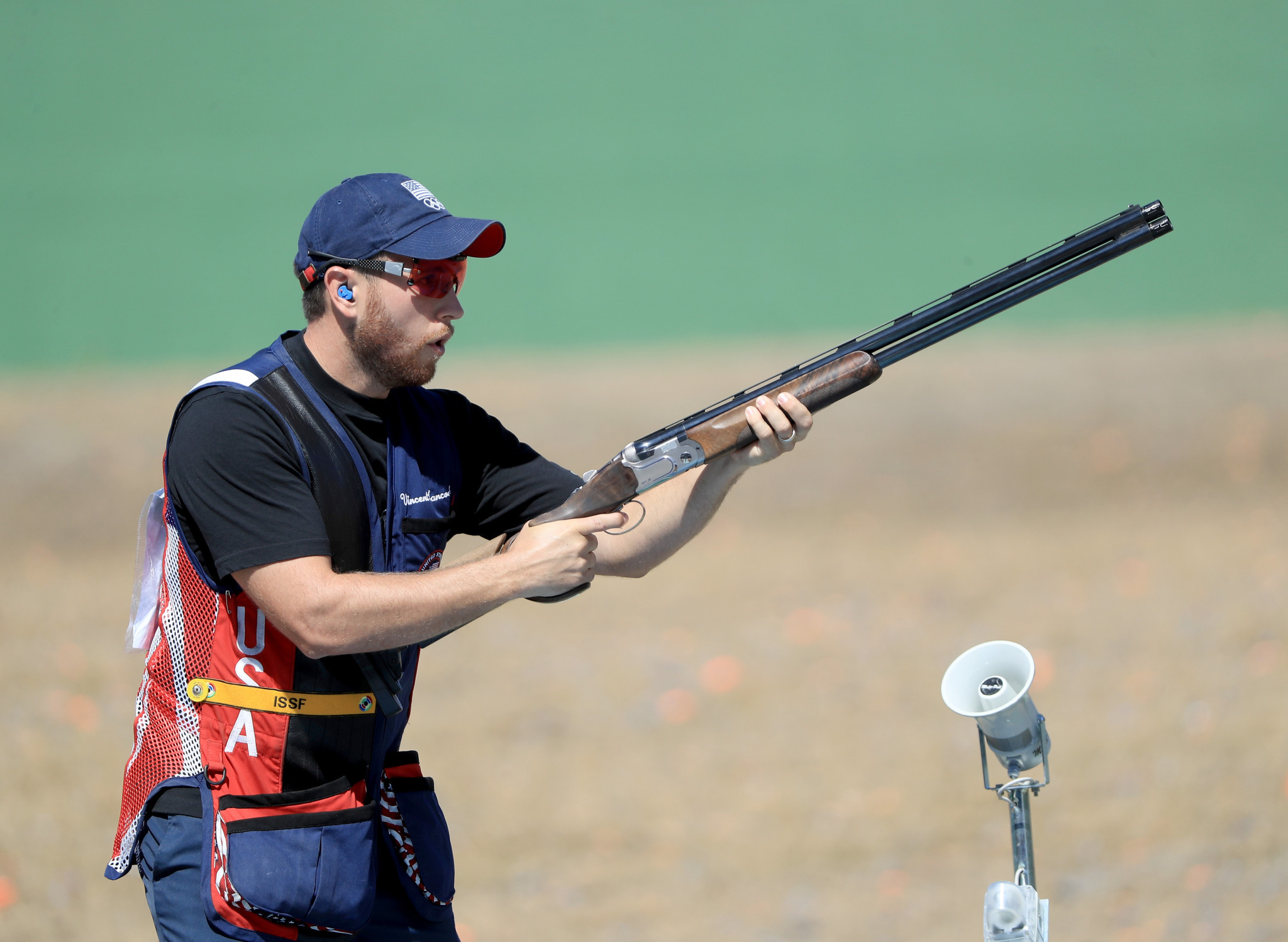 In a flawless display of shooting, Vincent Hancock hit all 185 targets across qualifying and the final ©Getty Images