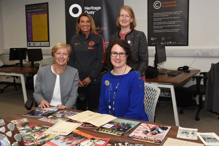 England Netball and UK Sport have launched their Netball Heritage Archive at the University of Huddersfield ©INF