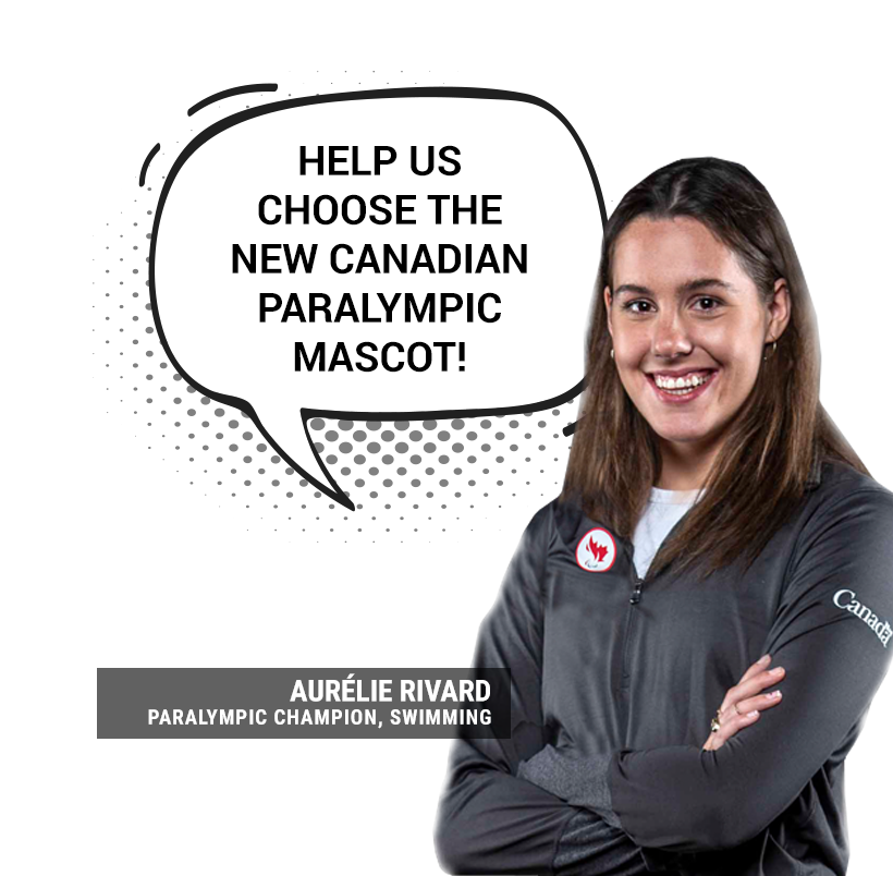 five-time Paralympic swimming medallist Aurelie Rivard said mascots can help with team morale ©CPC