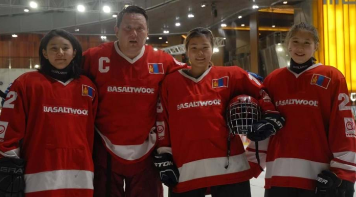 Mongolian Ice Hockey Federation vice-president Mergen Arslan is coach of the women's team and organised a training camp for them as they prepare for their international debut next month ©IIHF