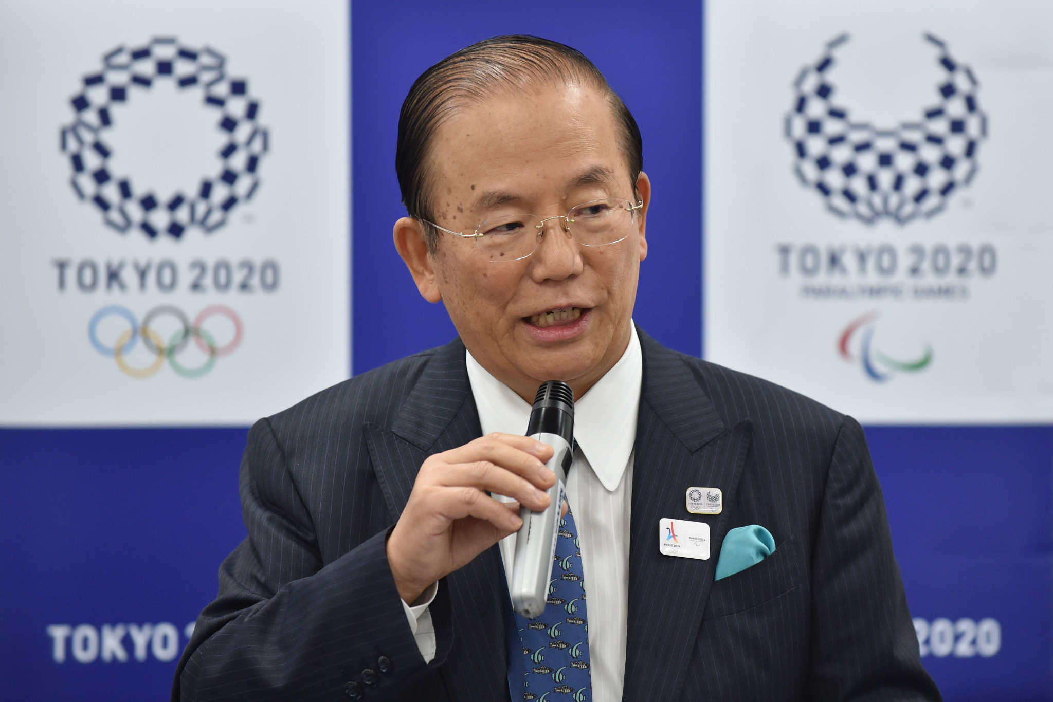 Tokyo 2020 chief executive Toshirō Mutō has hailed the success of the Organising Committee's medal project ©Getty Images
