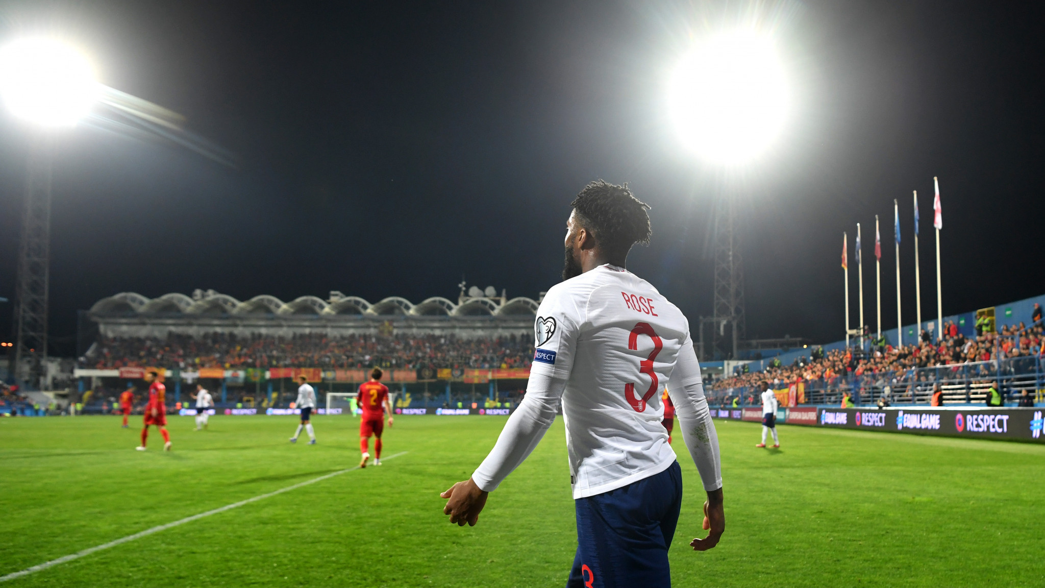 Danny Rose was one of the players who said he was targeted at Podgorica City Stadium ©Getty Images