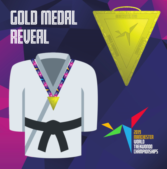 Organisers of the 2019 World Taekwondo Championships in Manchester have marked 50 days to go until the event by revealing the design of the gold medals for which athletes will be competing ©Kicking for Glory