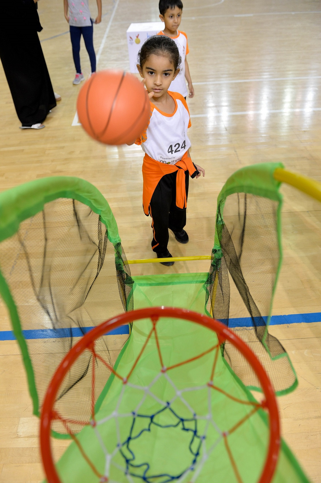 Last year's event saw children as young as two take part in sports including basketball ©BOC