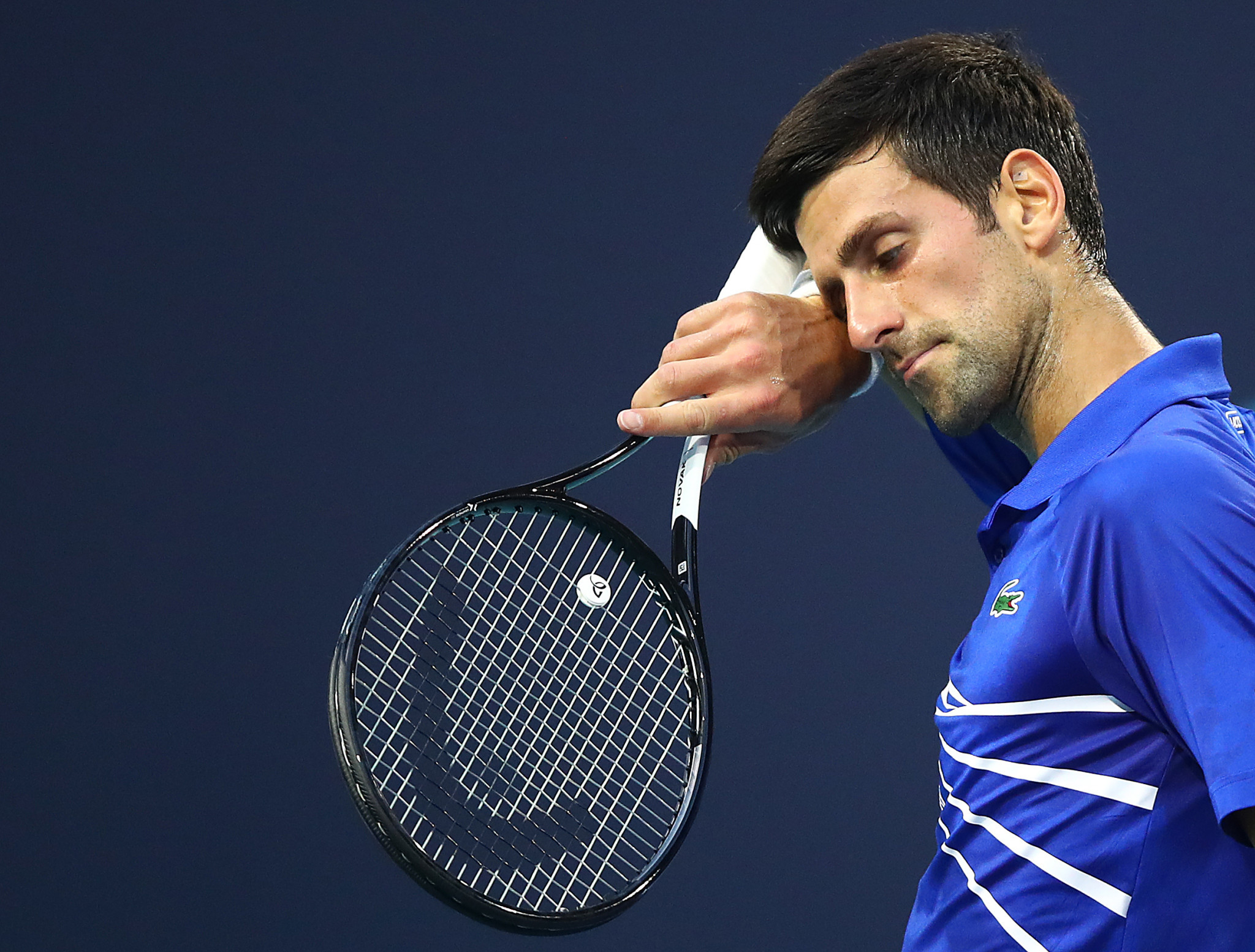 World number one Novak Djokovic exited the Miami Open in the fourth round ©Getty Images