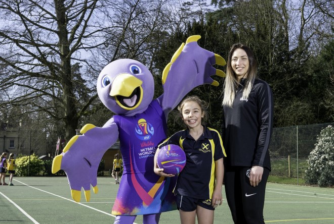 Orla Burner from Hertfordshire designed the 2019 Netball World Cup mascot ©2019 Netball World Cup